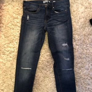 Banana Republic Patched Skinny jeans.
